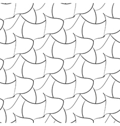 Black abstraction petals seamless pattern vector