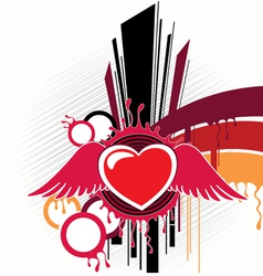 Abstraction with heart artwork vector