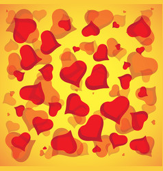 abstract love background full of hearts vector image