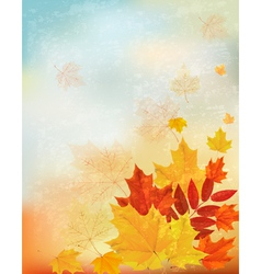 Abstract retro autumn background for your design vector image vector image