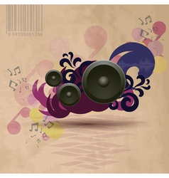 Abstract vintage music background vector