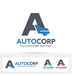 automobile letter a logo vector image vector image