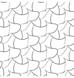 Black abstraction petals seamless pattern vector image vector image