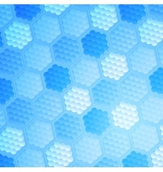 Blue abstract hexagonal texture background vector