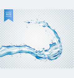 Blue water liquid splash on transparent background vector