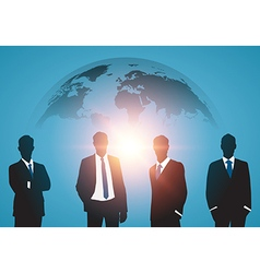 Business meeting with worldmap vector