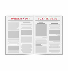 Business newspaper newspaper template isolated on vector