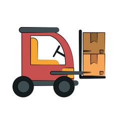 cardboard box industry icon image vector image