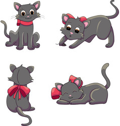 cat positions vector image