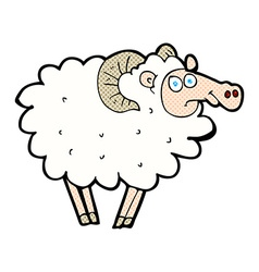 Comic cartoon ram vector