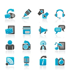 Communication and social network icons vector