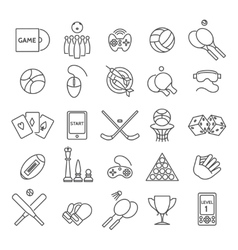 Computer and sports games icons vector