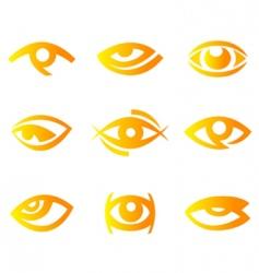 eye symbols vector image vector image
