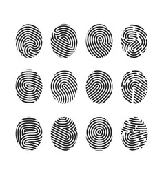 finger print icons vector image