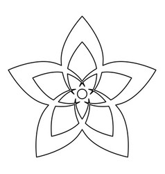 Flower the black color icon vector