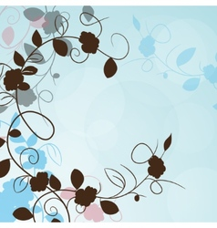 Flowers frame corner abstract vintage vector image vector image