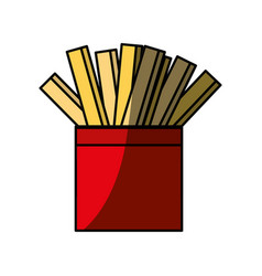 French fries fast fodd vector