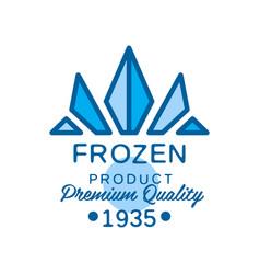 Frozen product premium quality since 1935 vector