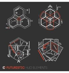 Futuristic HUD elements vector image