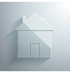 Glass Icon of Home vector image
