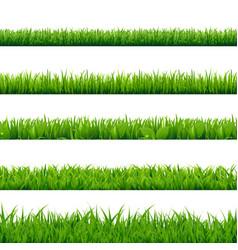 grass big set vector image vector image
