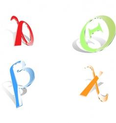 Greek letters vector