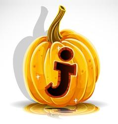 Halloween Pumpkin J vector image