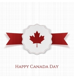 Happy canada day paper label with type vector