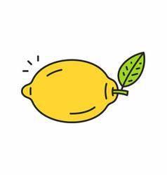 lemon icon vector image vector image