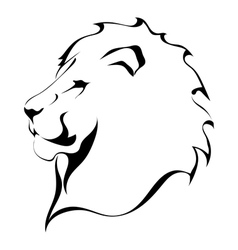 Lion head on a white background tattoo vector