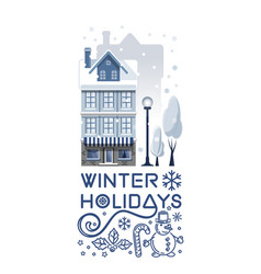 Logo design for the winter holidays vector