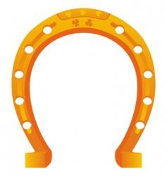 lucky horseshoe vector image vector image