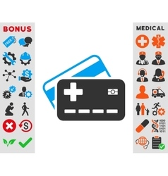 Medical insurance cards icon vector