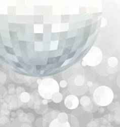 mirror ball party background vector image vector image