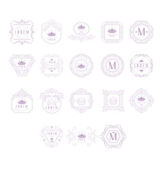 Monogram Design Template Set vector image vector image