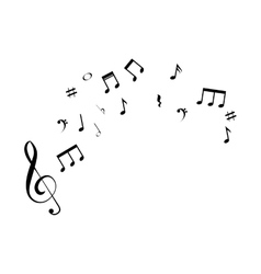 Music notes isolated icon vector