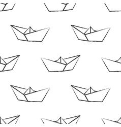 Origami paper ship vector