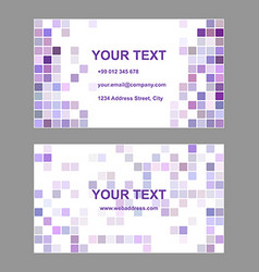 Purple square design business card template vector