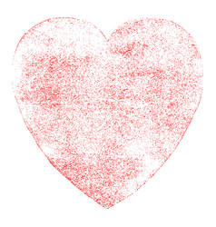 red heart sign watercolor texture vector image