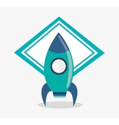 Rocket toy and game design vector image vector image