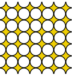 Seamless white circles black border vector