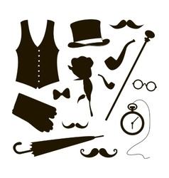 Set of elements for gentlemen vector image vector image