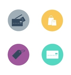 Shop buttons business market retail store vector