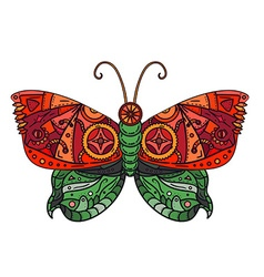 Steampunk butterfly tattoo vector
