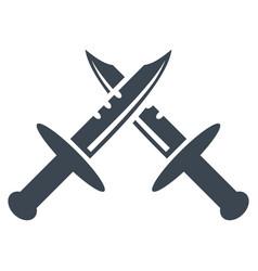 Swords flat icon vector