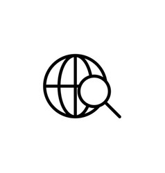 thin line searching magnifier icon vector image