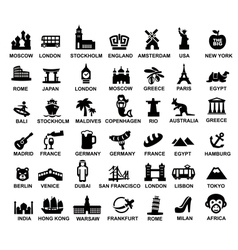 travel and landmarks vector image vector image