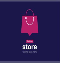 Web banner online store with shopping bags vector