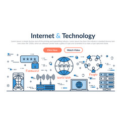 web site header - internet and technology vector image vector image