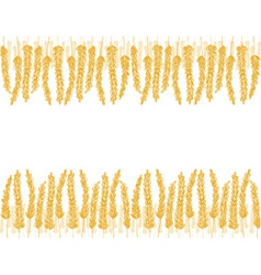 Wheat doodles background vector